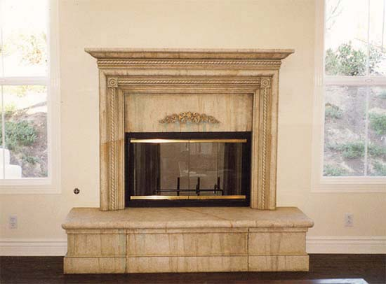 Classic Murals Fireplace Faux Finishes