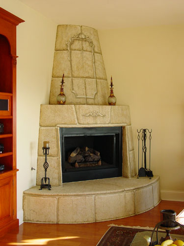 Classic Murals - Fireplace faux finishes