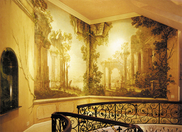 classic murals wall trompe l 39 oeil murals. Black Bedroom Furniture Sets. Home Design Ideas